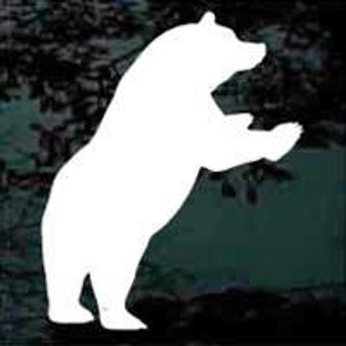 Rearing Bear Silhouette Window Decals