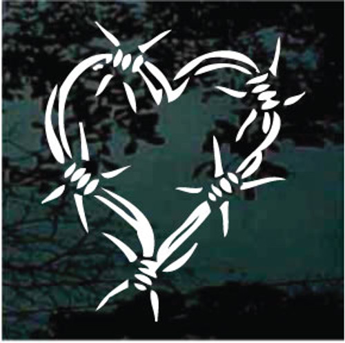 Barbed Wire Heart Decals