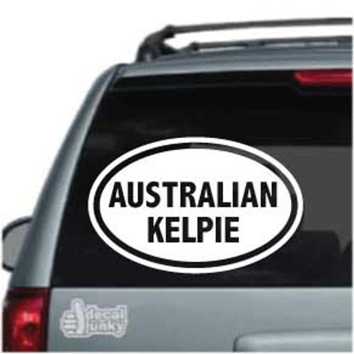 Australian Kelpie Oval Car Window Decal
