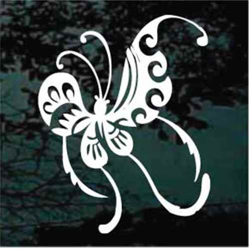 Unique Butterfly With Tails Window Decals