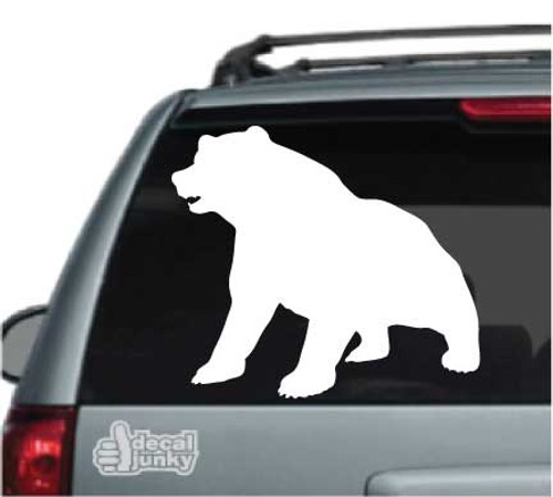 Bear Sitting Silhouette Bear Stickers