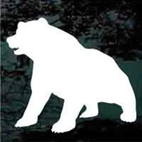 Bear Sitting Silhouette Window Decals