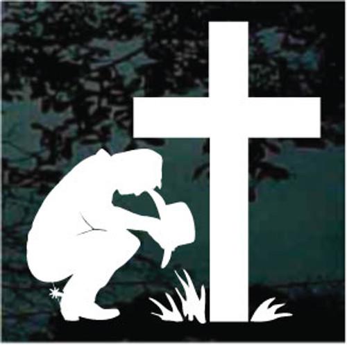 Cowboy Praying Cross 04