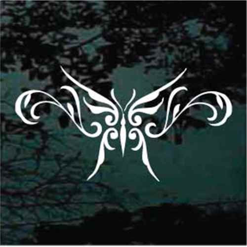 Delicate Tribal Butterfly Tattoo Window Decals