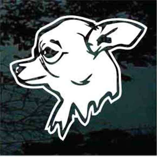Chihuahua Head Side View Window Decals