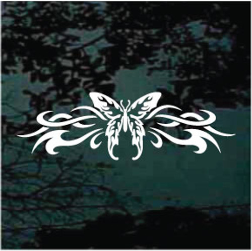 Tribal Butterfly Design Window Decal