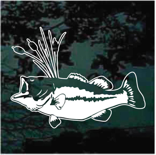 Bass Fish In Reeds Decals