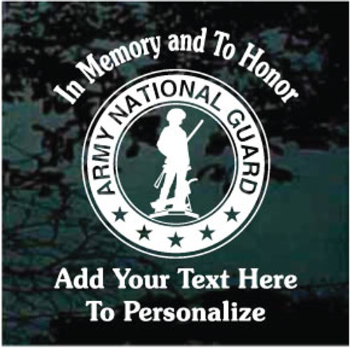 U.S. Army National Guard Memorial 01 Window Decal