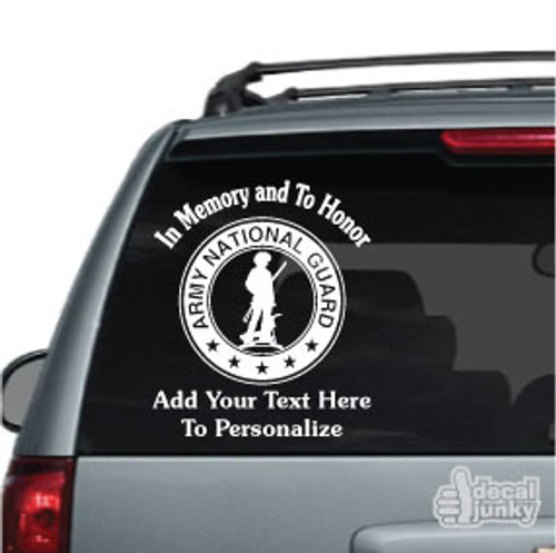 U.S. Army National Guard Memorial 01 Car Decal