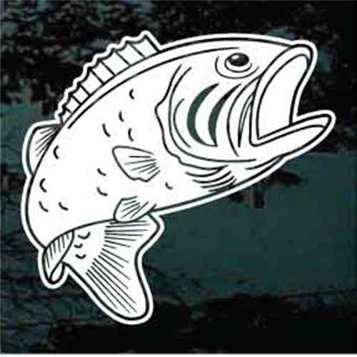 Solid Bass Fish Decals