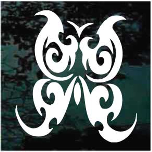 Bold Tribal Butterfly Tattoo Window Decals