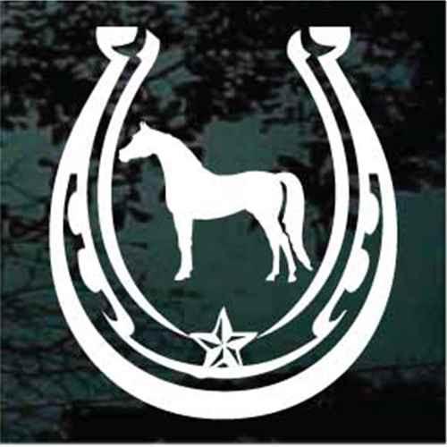Horse Silhouette Star Horseshoe