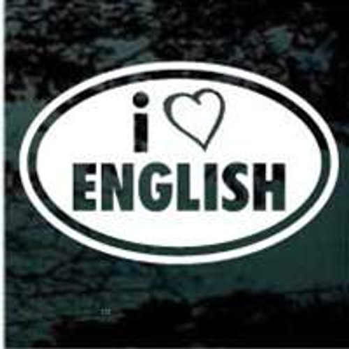 Love English Oval