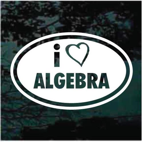 I Love Algebra Decals