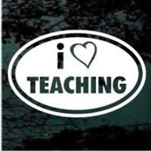 I Love Teaching Oval