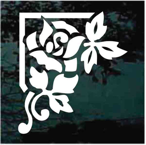 Decorative Flower Corner Decals