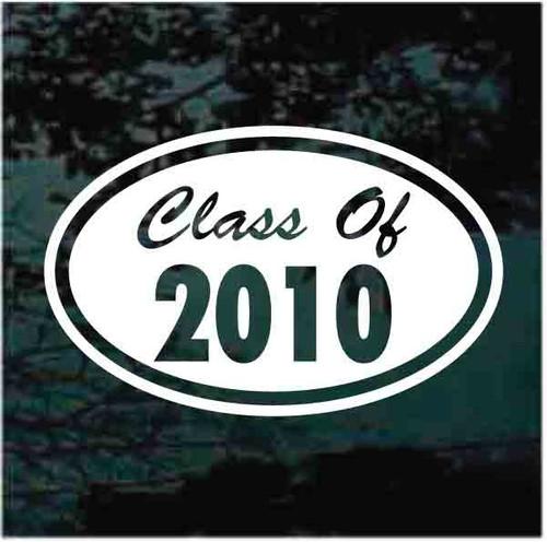 Graduation Class Oval Window Decals