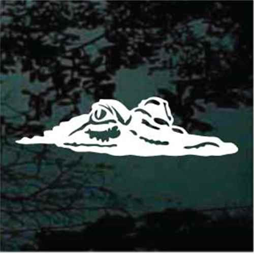 Gator Head Sticking Out Of The Water Alligator Decals