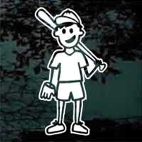 Cartoon Family Baseball Boy Decals