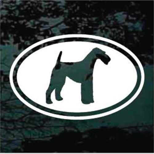 Airedale Terrier Cut Out Oval Window Decal
