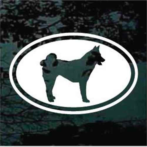 Akita Cut Out Oval Decal