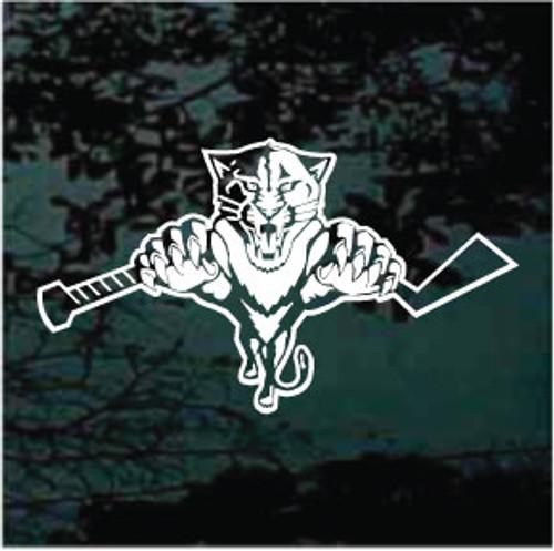 Hockey Cat Wildcats Mascot Decals