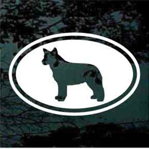 Australian Cattle Dog Cut Out Oval Window Decal