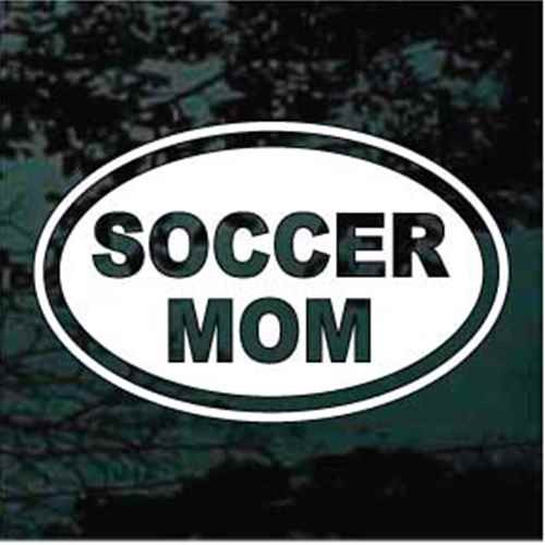 Soccer Mom Text Oval Decals