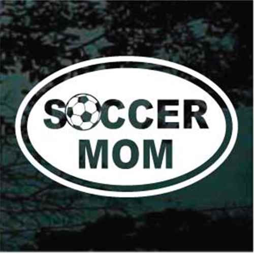 Soccer Mom Oval Soccer Ball Decals