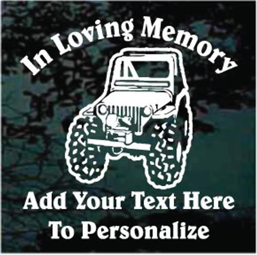 Jeep Memorial Decals