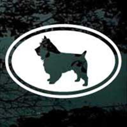 Australian Terrier Cut Out Oval Decal