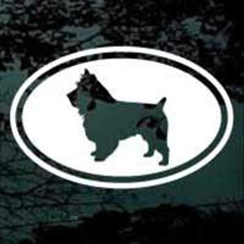 Australian Terrier Cut Out Oval Window Decal