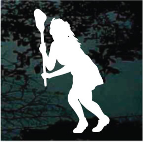 Lacrosse Player Silhouette 03 Decals