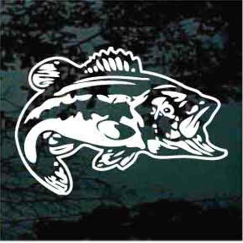 Realistic Bass Fish Swimming Decals
