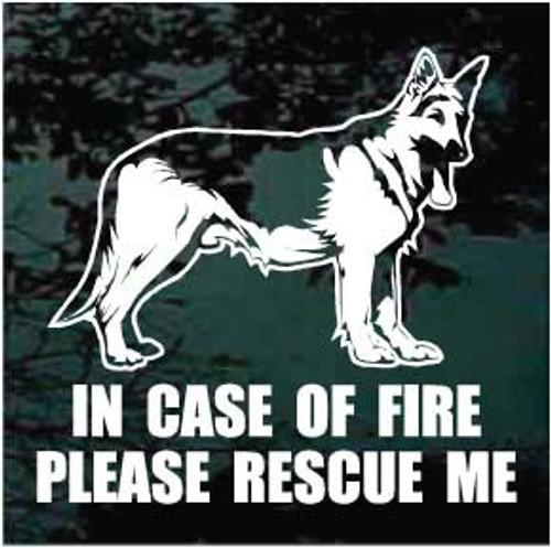 German Shepherd 01 Fire Rescue Window Decal