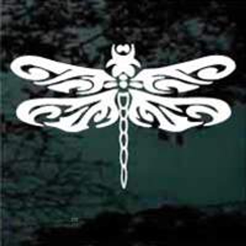 Tribal Art Dragonfly Window Decals