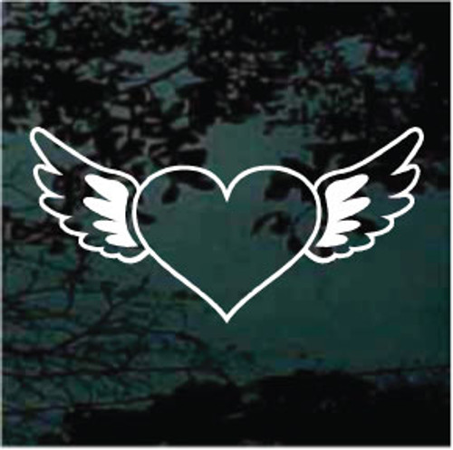 Heart With Angel Wings Decals