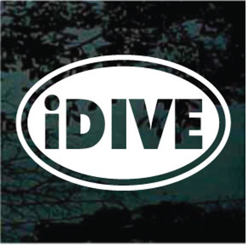 iDive Oval Decals