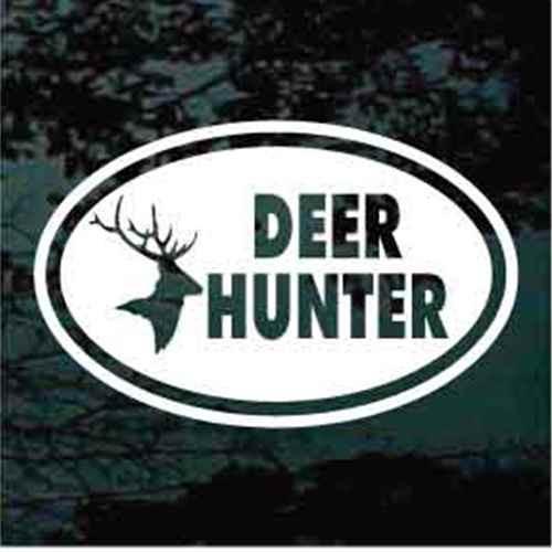 Deer Hunter Deer Head Oval Decals