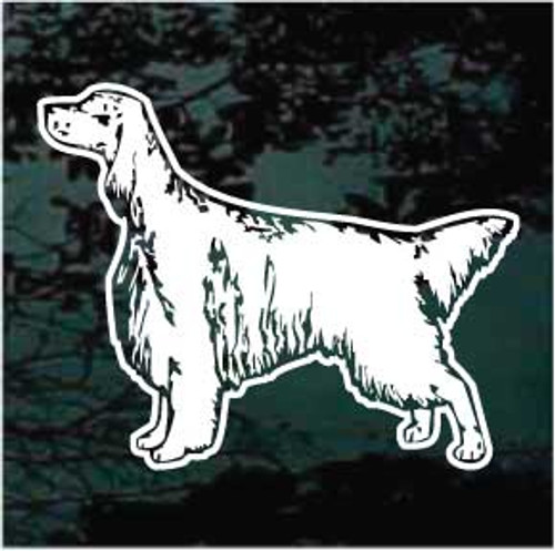 English Setter Standing Window Decal