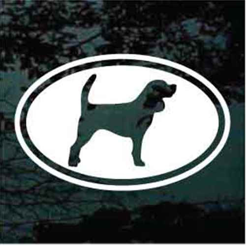 Beagle Cut Out Oval Window Decals