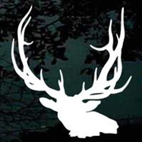 Large Elk Head Window Decals