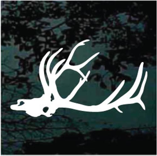Bull Elk Skull Window Decals