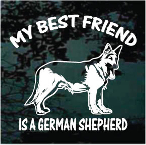 My Best Friend German Shepherd Decals