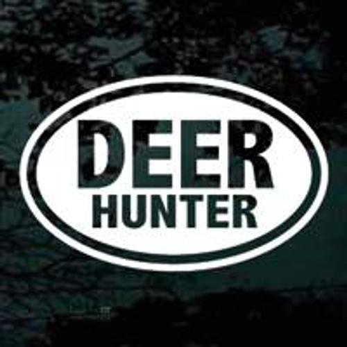 Deer Hunter Text Oval