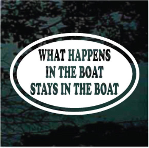 What Happens In The Boat Oval Decals