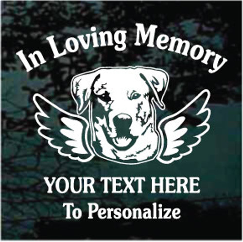 Labrador Retriever Angel Wings Memorial Window Decal