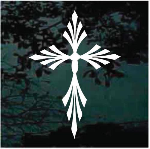Filigree Christian Cross Decals