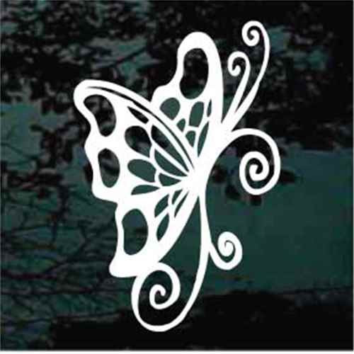 Spotted Butterfly Window Decals