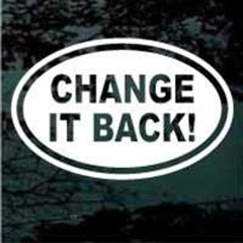 Change It Back Oval